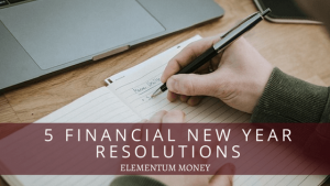 Financial New Year Resolutions