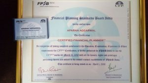 My CFP Certificate and Licence
